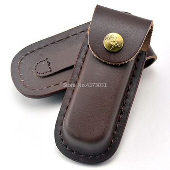 Brown Sheath / Folding Knife Sheath Holster Leather Knife The First Floor Leather Knife Sheath For Sw knife фото