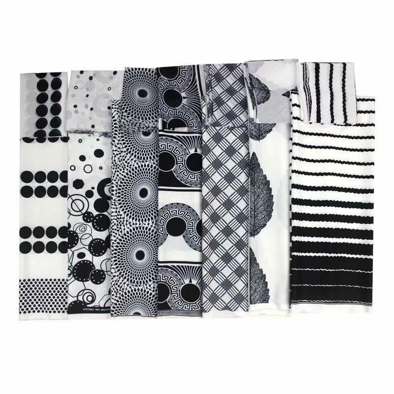 black and white ankara fabric african prints silk satin fabric wedding dress fabric macthing 2yards chiffon ankara dashiki|Fabric| |  - title=