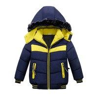 2018 בני ילדי חורף מעיל מעילים & מעילי רוכסן כחול איכות גבוהה מעיל חורף בנים עבה ילדים מעיל החורף בוי בגדים
