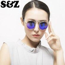 Ретро металлические стимпанк Солнцезащитные очки с накладкой для женщин и мужчин Европейский стиль Рок 80's Классический круглый металлический унисекс ретро круг OCULOS de sol