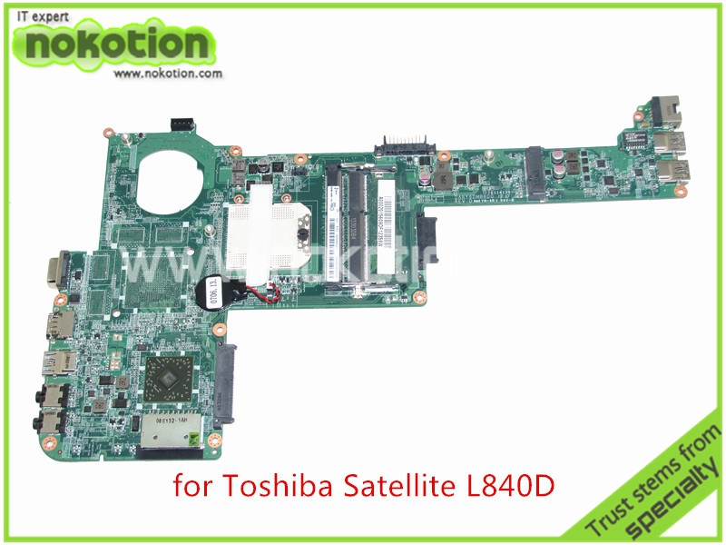 NOKOTION A000201560 DABY6DMB8D0  REV D For toshiba satellite L840 L840D  laptop motherboard DDR3 Mainboard nokotion pt10an dsc mb rev 2 1 laptop motherboard for toshiba satellite c50 c50d em2100 cpu amd 216 0841000 ddr3 mainboard