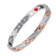 все цены на Stainless Steel Magnet Bracelet Germanium Anion Far Infrared Bracelet Dragon Bracelet
