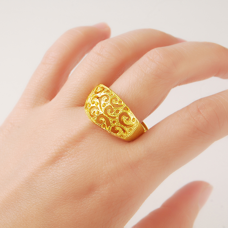 24K Pure Gold Rings Jewelry...