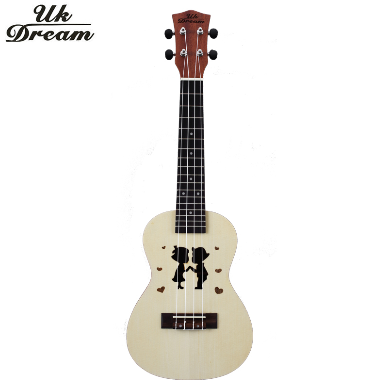 Wooden Guitar Ukulele Couple Models 23 inch Spruce Sapele Mini Hawaii Color Guitar 4 Strings 17 frets Guitar ukelele UC-Hand New hlby good deal 17 mini ukelele ukulele spruce sapele top rosewood fretboard stringed instrument 4 strings with gig bag 2