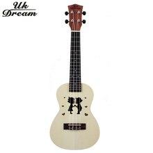 Wooden Guitar Ukulele Couple Models 23 inch Spruce Sapele Mini Hawaii Color Guitar 4 Strings 17 frets Guitar ukelele UC-Hand New