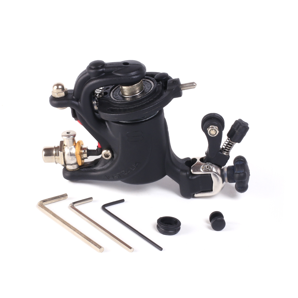 Solong Tattoo Rotary Tattoo Machine Gun Swashdrive Gen Dragonfly Style 10 Watt Strong Motor Black M628