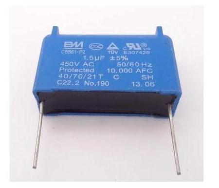 Free Shipping New Blue Component   1.5uF 450VAC ,Electric Fan Component  Start Component  10pcs/lot