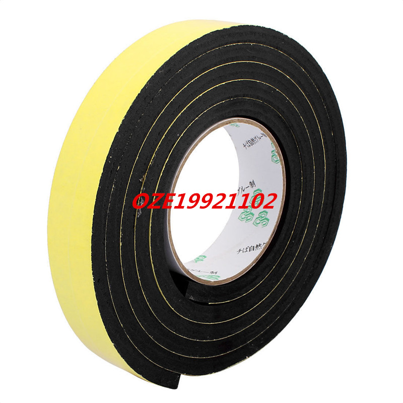 30mm x 8mm Self Adhesive Shock Resistant Anti-noise Foam Tape 2M Length 1pcs single sided self adhesive shockproof sponge foam tape 2m length 25mm x 6mm