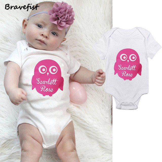9e6fdc6df911 Newborn Baby Boy Girl Clothes Short Sleeve Cotton Romper Jumpsuit Clothes  Outfits 0-24M Pink White Summer Children Owl Outwear