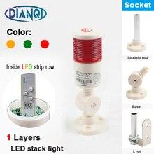 Промышленные сигнальная башня безопасности стека сигнализации Светильник лампа красный зеленый желтый светильник светодиодный небольшой пластмассовый 1 слой с базой 12V 24V