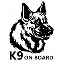 CS-1406#14*18cm k9 on board funny car sticker vinyl decal silver/black for auto stickers styling