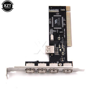 PCI Controller Card-Adapter Pci-Cards 4-Port Newest-Arrival Usb-2.0 HUB VIA 480mbps High-Speed