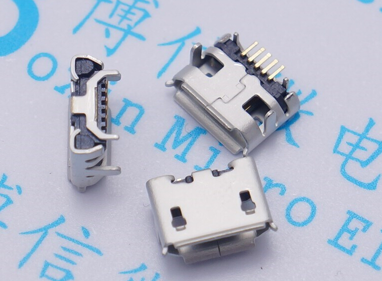 10pcs Micro 5pin USB Jack Ox horn longer needle Needle length 1.25 5P with ox horn 5P Charger MIni usb Connector Free shipping 20pcs micro usb 5pin no side ox horn female usb socket flat mouth four legs socket mini usb connector free shipping