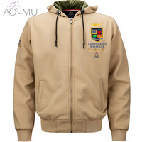 AOMU Brand Clothing Men Military Jacket US Army Tactical Ma 1 Pilot Softshell Autumn Winter Outerwear