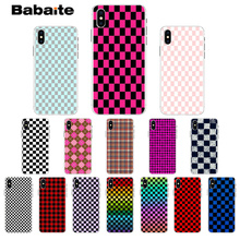 Babaite Checkerboard Checked Checke Customer High Quality Phone Case for iPhone 7 7plus X XS MAX 6 6S 8 8Plus 5 5S XR недорого