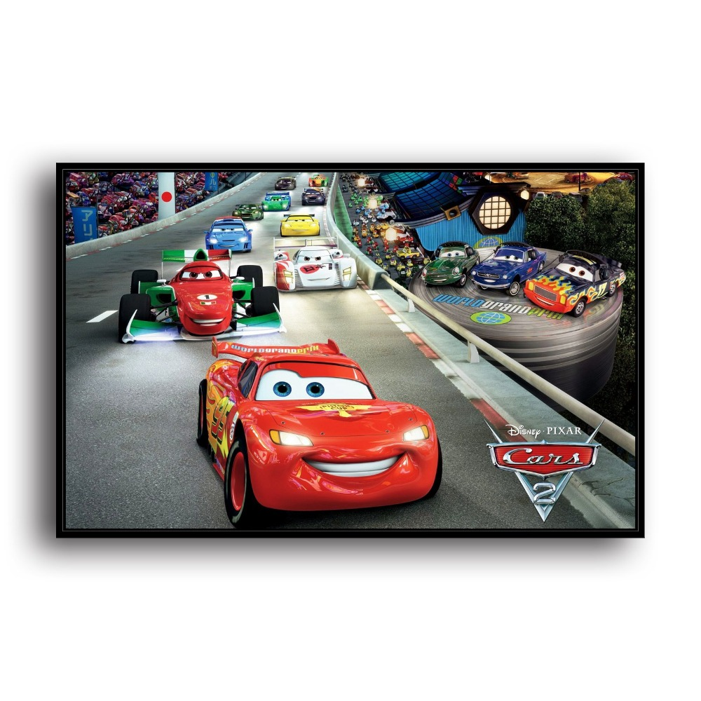 SR106035- Lightning McQueen. HD Canvas Print Home decoration Living Room bedroom Wall pictures Art painting