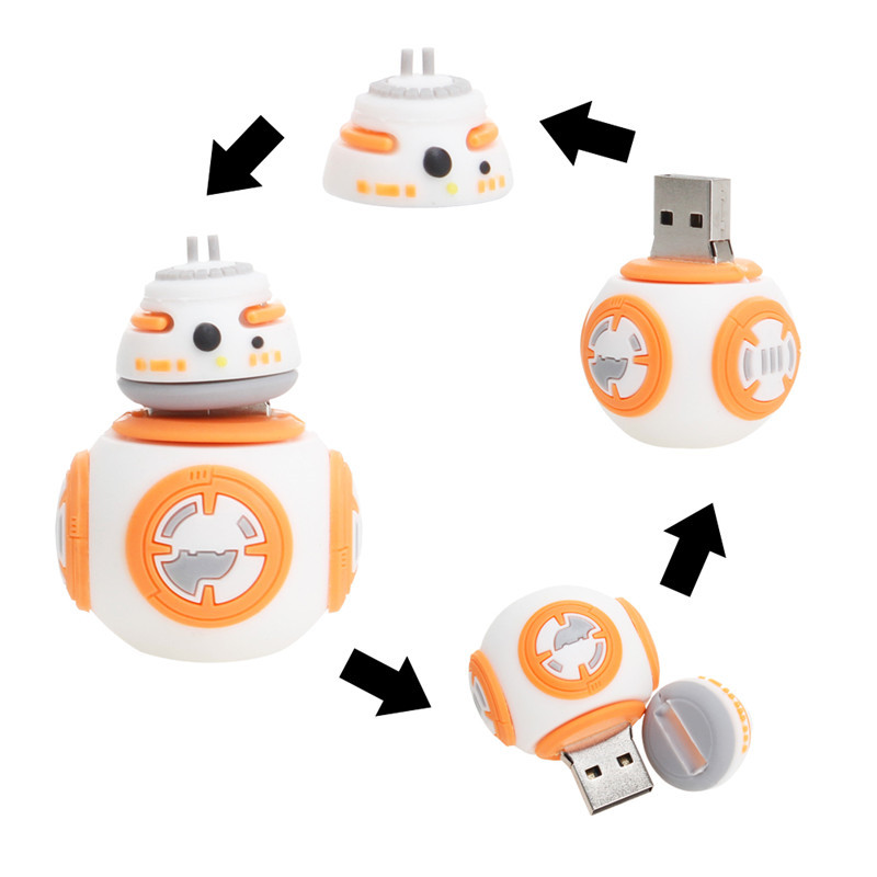 Hot sale 3.0 Star wars usb flash drive 32GB Cartoon Silicone 128GB pendrive 4GB 8GB 16GB 64GB for gift pen drive free shipping   (2)