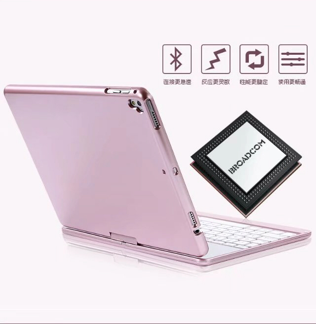 Case For Ipad 5 / 6 / Air / Air 2 / Pro 9.7 7 Colors Backlit Light Wireless Bluetooth Keyboard Cover Case For Ipad 9.7 2017 2018