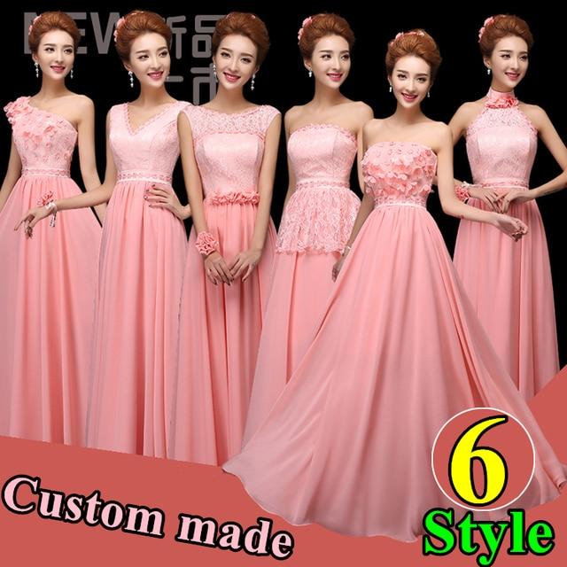 Peachy Pink Bridesmaid Dresses   Wedding Gallery