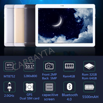 CARBAYTA 10.1-polegada Octa Núcleo Android Tablet PC 4 gb RAM gb gb Tablette 64 32 Embutido 3g 4g LTE Telefone Dual SIM WIFI Bluetooth Telefone