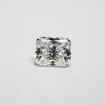 6*8mm 빛나는 컷 1.67 캐럿 화이트 moissanite 스톤 느슨한 moissanite 다이아몬드 결혼 반지
