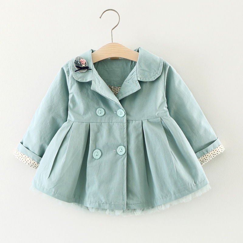 1-3 T Spring Autumn Baby Coat Outwear Kids Outerwear Clothes Infant Girl Hooded Cardigan   Trench   Coat Children Windbreaker Jacket