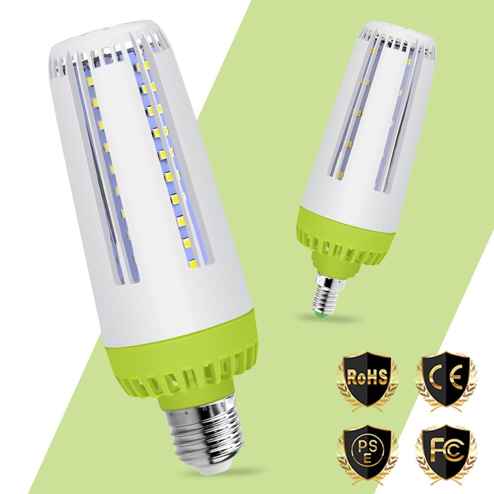 No Flicker E27 LED Lamp 220V Eye protection Light Bulb Smart IC E14 LED Corn Bulb 110V Energy saving Lighting 5736 10W 15W 20W