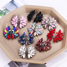 HOCOLE Jewelry New Fashion Women Earrings Acrylic Crystal Statement Angel Wings Stud For Gift Brincos