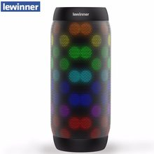HOT lewinner colorful Waterproof Bluetooth Speaker Wireless NFC Super Bass Subwoofer Outdoor Sport Sound Box FM Portable Speaker(China)