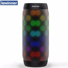 Sıcak lewinner renkli su geçirmez Bluetooth hoparlör kablosuz NFC süper bas Subwoofer açık spor ses kutusu FM taşınabilir hoparlör