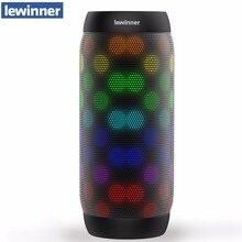 뜨거운 lewinner 다채로운 방수 블루투스 스피커 무선 NFC 슈퍼베이스 서브 우퍼 야외 스포츠 사운드 박스 FM 휴대용 스피커