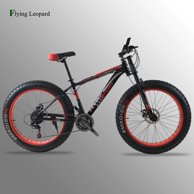 Mountain bike bicycle road bike aluminum frame 21/24 speed mechanical brakes 26 x 4.0 wheels long fork Fat Bike fahrrad bicycle