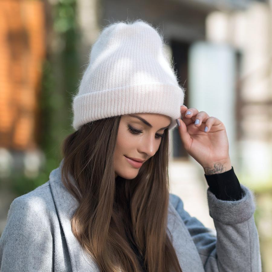 2017 New Autumn Winter Beanies Hats For Women Knitting Warm Wool Skullies Caps Ladise Hat Pompom Gorros (5)