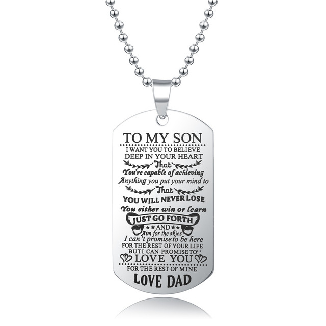 To My Son Daughter I Want You To Believe Love Dad Mom Pendant Family Necklace Jewelry 3