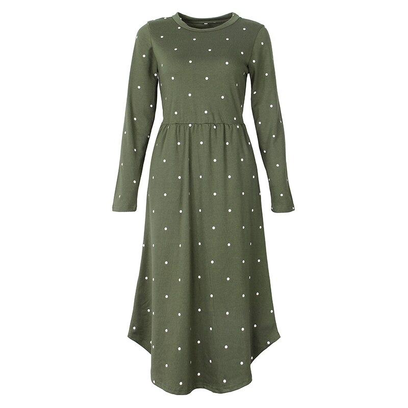 2018 New Women Vintage Dress Robe Femme Casual Loose A-line Midi Dress...