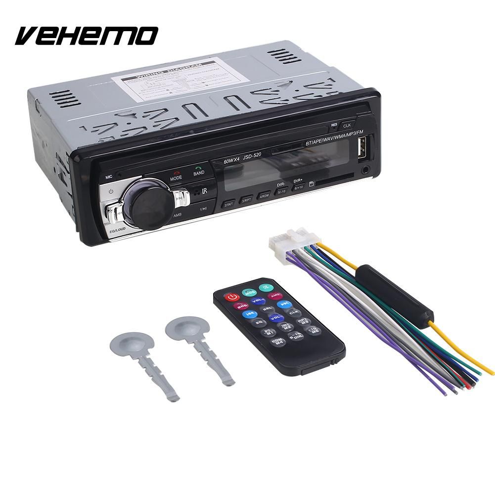 VEHEMO 1DIN 12V Volume Control Phonecall Car Mp3 Radio Player Car Bluetooth MP3 Audio CD in Dash Bluetooth Call