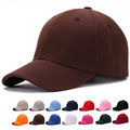 Plain acrylic baseball caps with no embroidered adjustable closure outdoor blank sport cap and hat for men and women