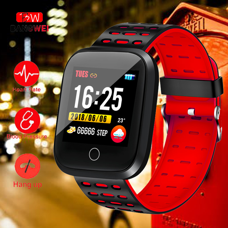 Watches Obliging Bangwei Bluetooth Y1 Smart Uhr Relogio Android Smartwatch Anruf Gsm Sim Remote Kamera Informationen Display Sport Schrittzähler With A Long Standing Reputation