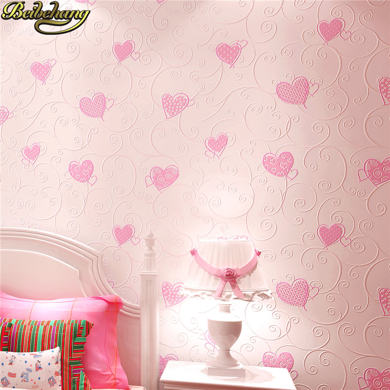 все цены на beibehang Heart shaped non-woven fabrics modern papel de parede 3D wallpaper living room luxury wall paper for bedroom flooring онлайн