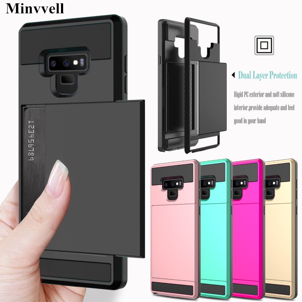 Card Case For Samsung Galaxy A3 A5 A7 J3 J5 J7 2016 2017 Card Slot Phone Case For Samsung S8 S9 Plus S6 S7 Note 9 Note 8 Cover