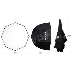 Image 3 - Godox ポータブル 120 センチメートル/47.2in オクタゴンソフトボックス傘ボックスブロリーリフレクターためスタジオストロボスピードライトフラッシュ