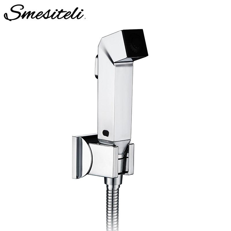 Smesiteli Single Hole Toilet Bidet Hand Held Portable Bidet Spray Shower Set Toilet Shattaf Sprayer Set Cleaning Shower