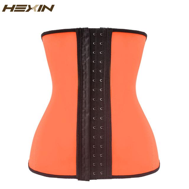 HEXIN Hot Shapers Do Corpo da Cintura Látex Cincher Cintura Fajas Cinto Trainer Trainer Cintura Corsets Underbust Ossos de Aço Fino Plus Size