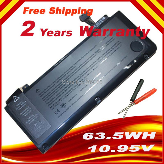 """Battery A1322 For APPLE MacBook Pro 13 """" Unibody A1278 MC700 MC374 Mid 2009 2010 2011, & Gift screwdrivers Free Shipping"""
