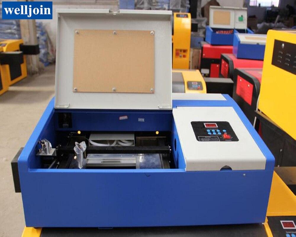40W CO2 małe rzemiosło laserowa maszyna grawerująca znaczek laserowy grawerowanie laserowe maszyny do cięcia GY-320
