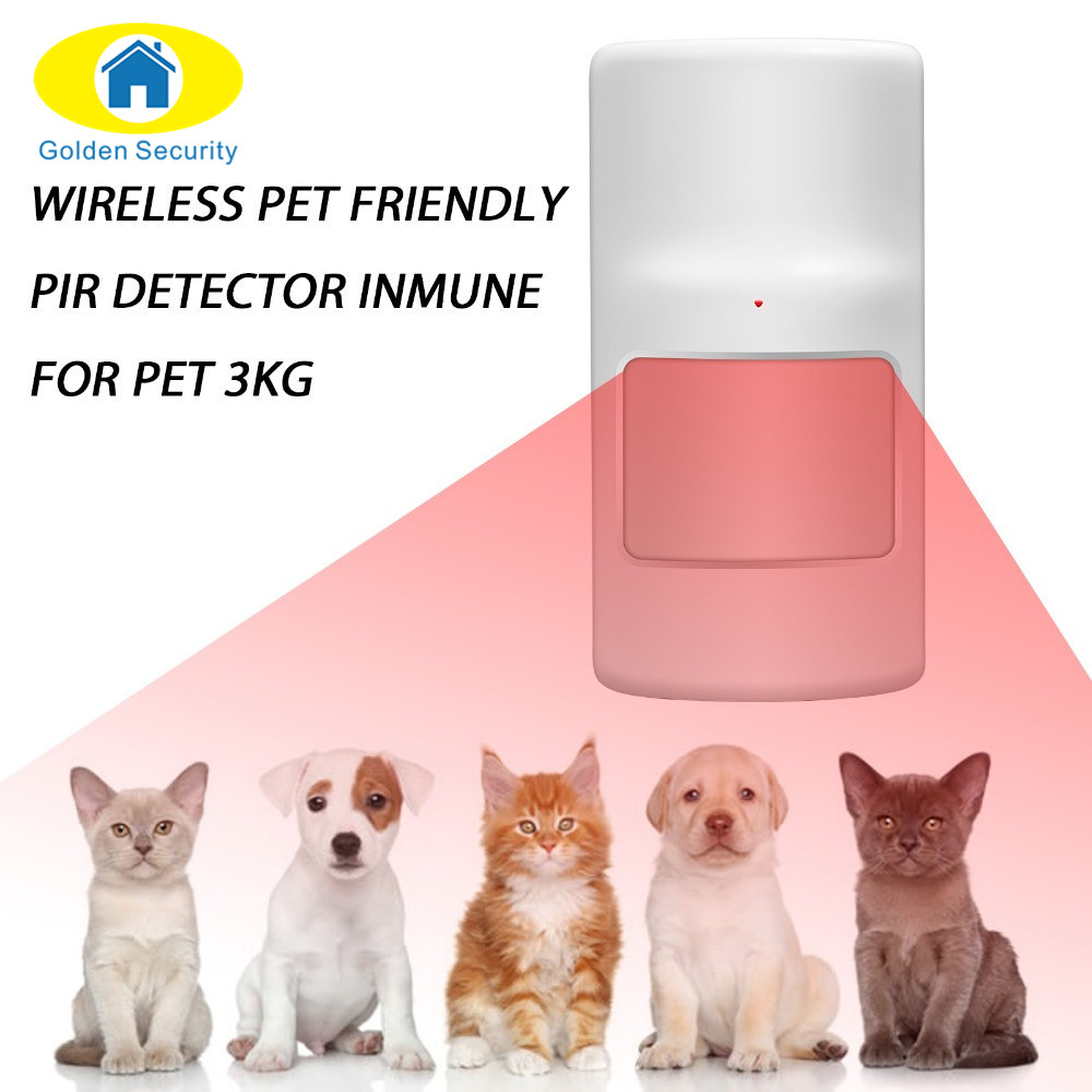 Golden Security Wireless Alarm Accessories Intelligent anti pet detector motion Magnetic Sensor for G90B GSM Home Alarm Systems cx007 multifunctional anti full range all round detector alarm