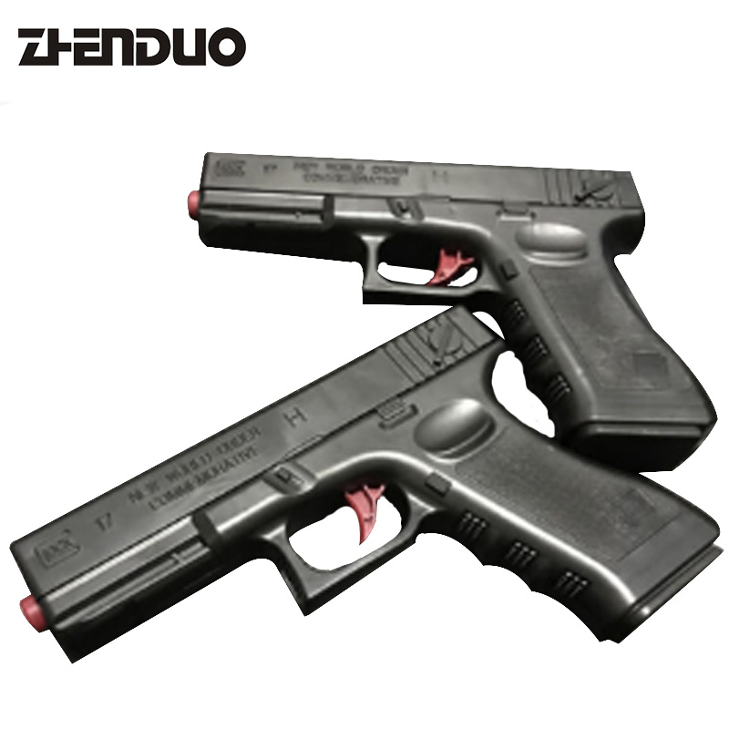 ZhenDuo Toys 2Pcs Set Interactive H12A Black Water Gun Manually Recall Simulation Child Manual Toy Gun