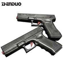 ZhenDuo игрушки 2 шт./компл. интерактивные H12A черный водяной пистолет вручную вспомните моделирования ребенок Руководство игрушечный пистолет Старт мягкий пистолет пуля