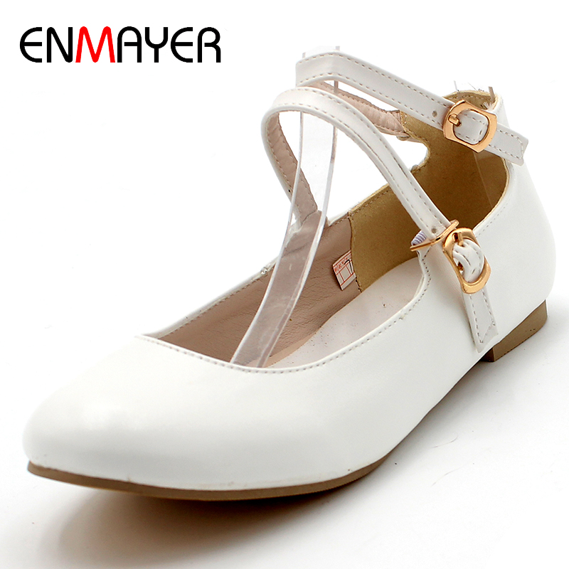 ENMAYER Spring Autumn Women Fashion Casual Concise Flats Round Toe Slip-On Square Heel Large Size 34-47 Black White Shoes Woman 300 50mm flat belt grinder contact wheel dynamically balanced rubber polishing wheel abrasive sanding belt set