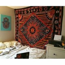 India Tarot Ouija Mandala Tapestry Hippie Psychedelic Macrame Wall Hanging Sun Moon Boho Decor Headboard Blanket Picnic